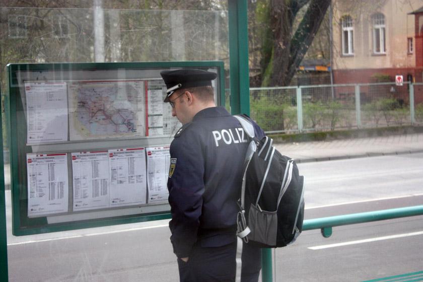 Policeman after work