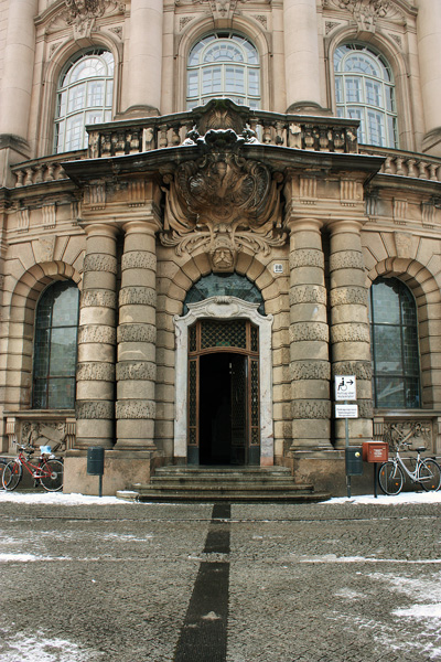 The city hall in Potsdam - The main entrance / Das Rathaus in Potsdam - der Haupteingang / Городская ратуша в Потсдаме - главный вход