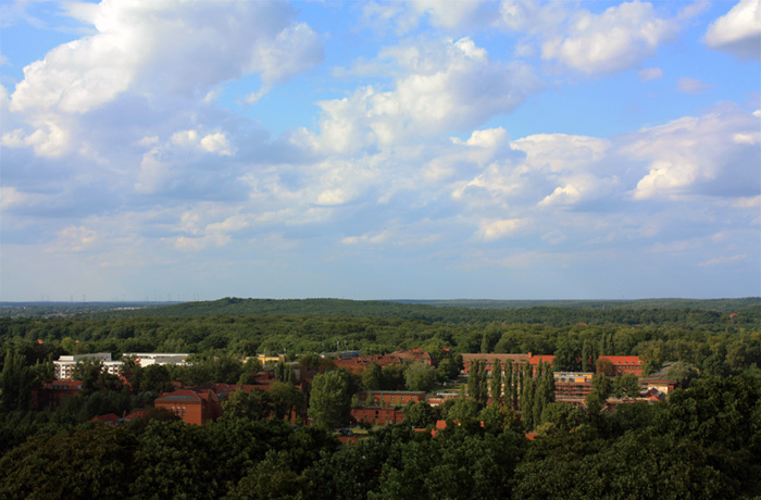 Potsdam von oben. Richrung Norden. / Потсдам с высока. Вид на север.